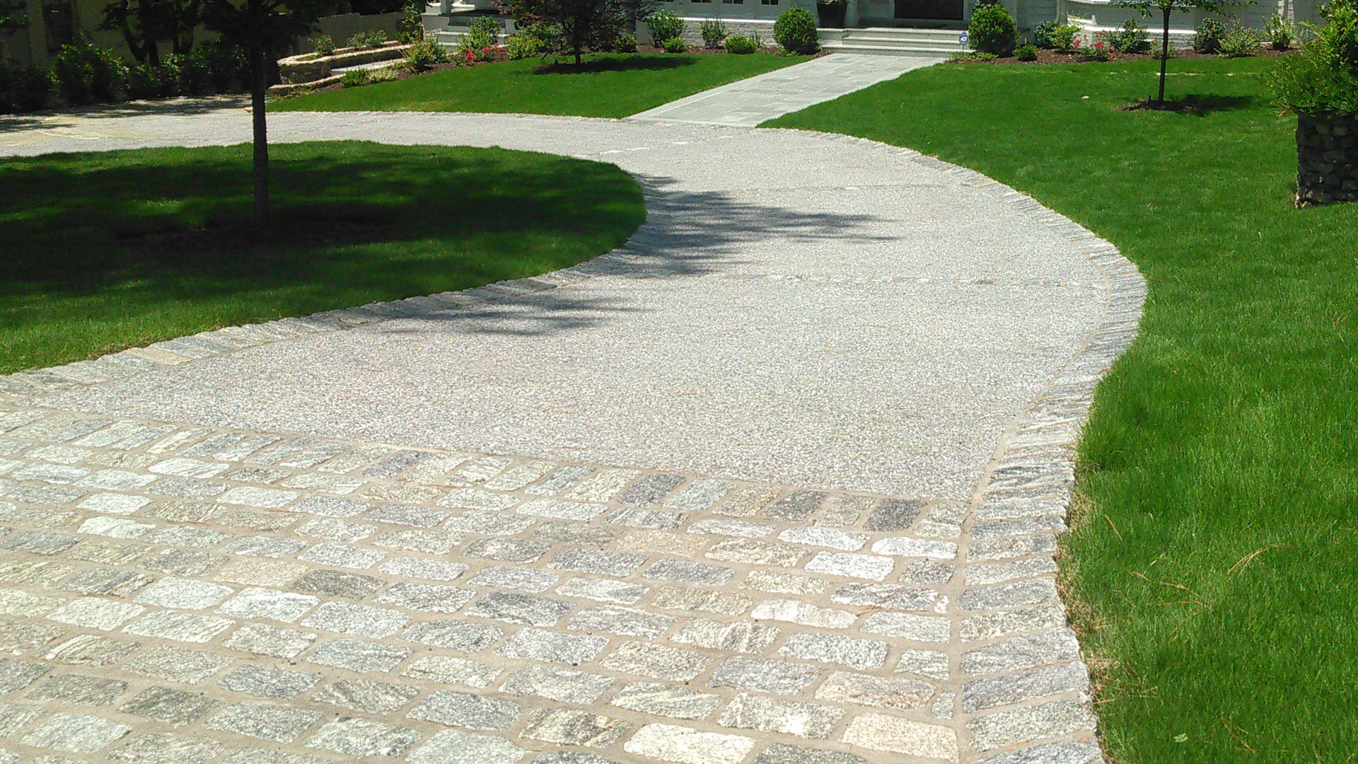 Paver driveways built to add additional parking at a home in Atlanta, GA.