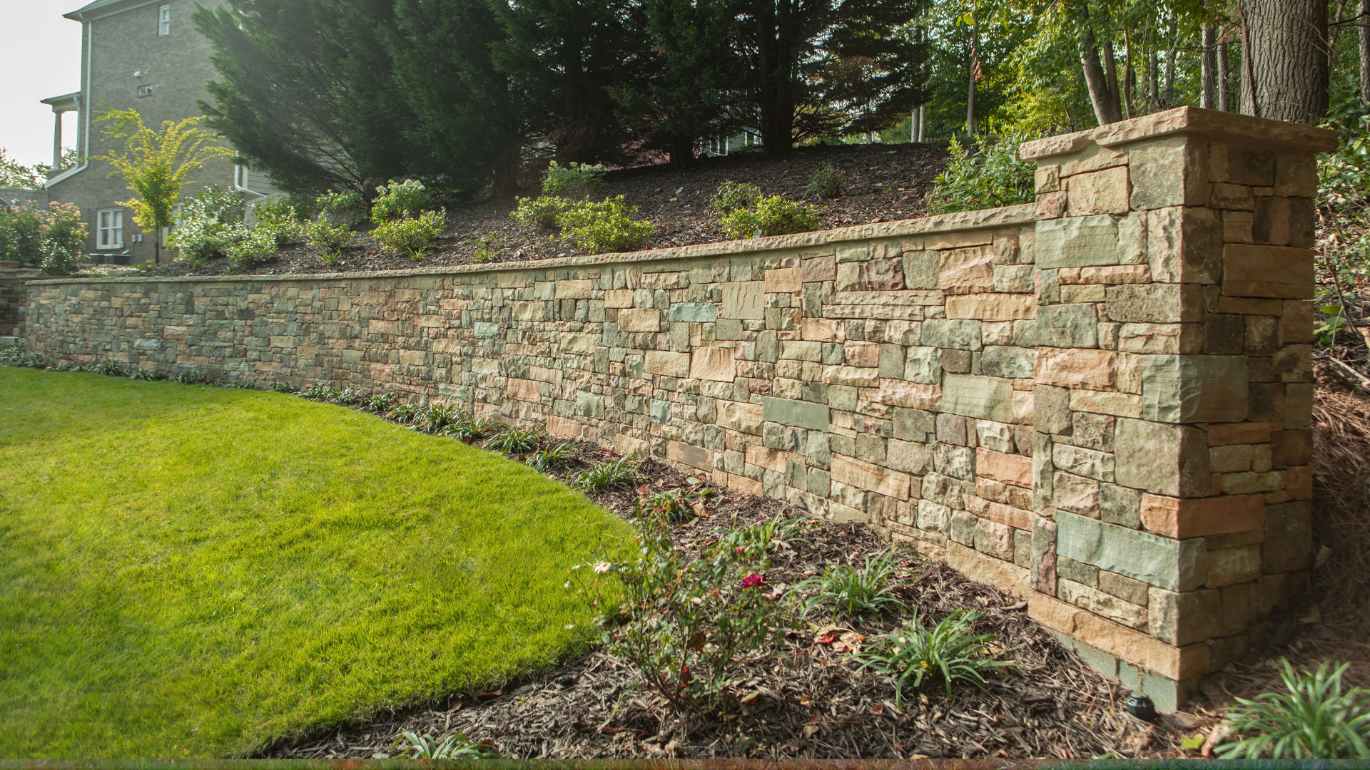 We installed this retaining wall at a residential property in Smyrna, GA.