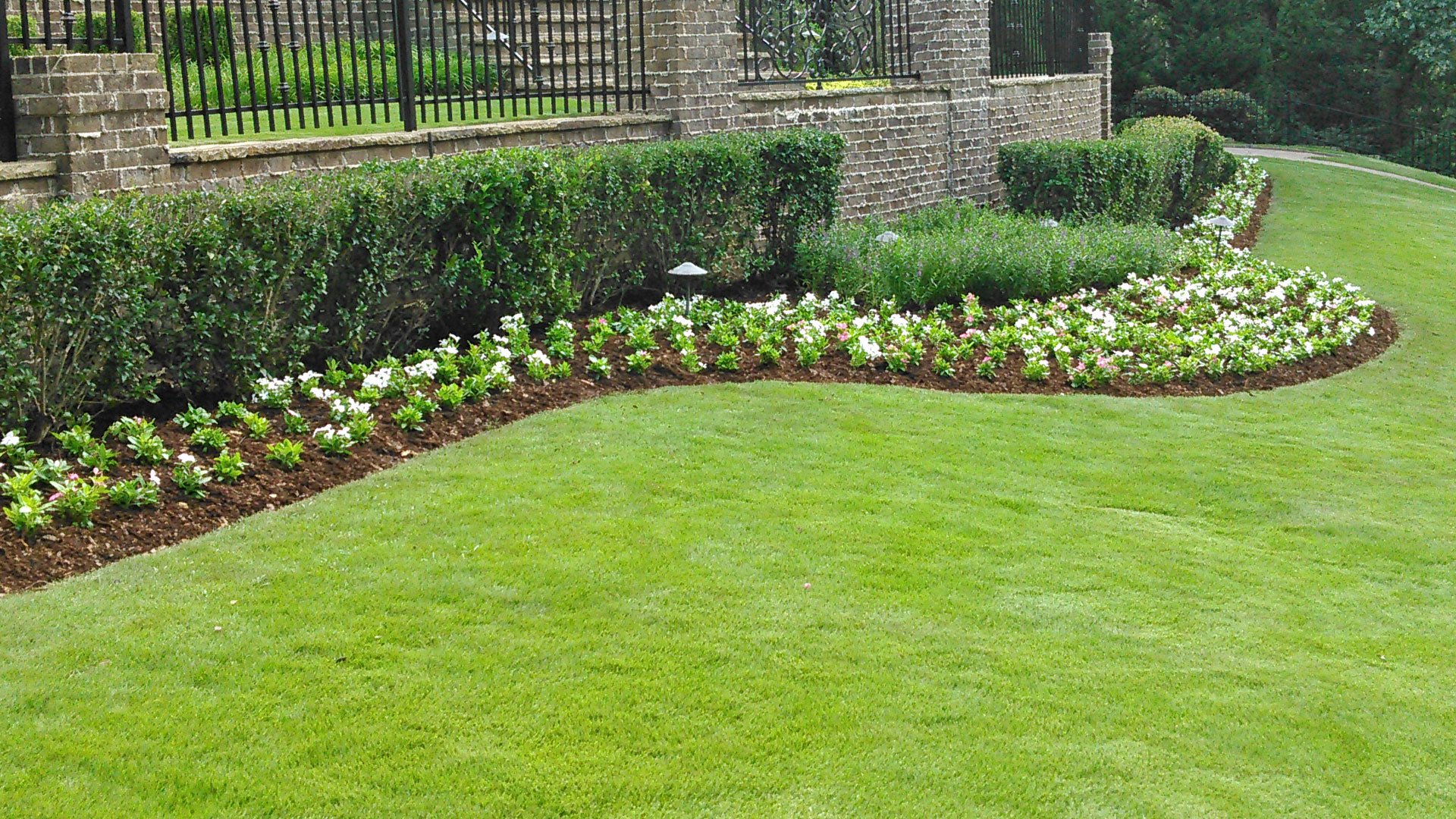 Our team planted spring annuals at this home located in Buckhead, GA.
