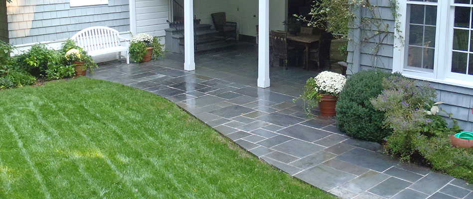 A new paver patio designed and installed by our team of certified professional contractors in Atlanta, GA.