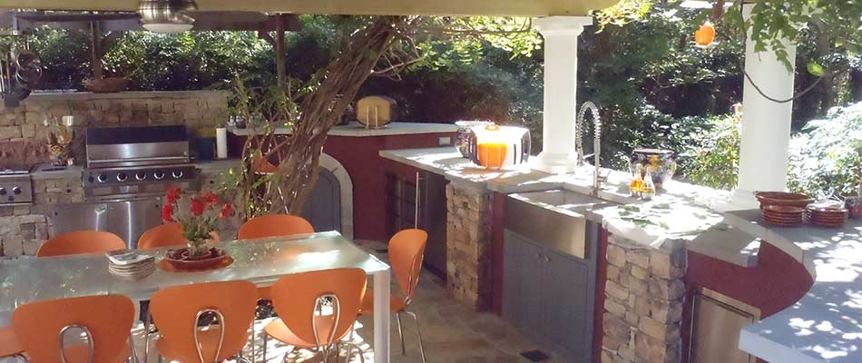 Outdoor kitchen design and build in Powder Springs, GA.