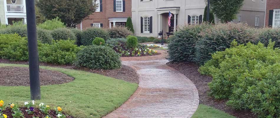 Lawn and landscape maintenance for an HOA in Atlanta, GA.