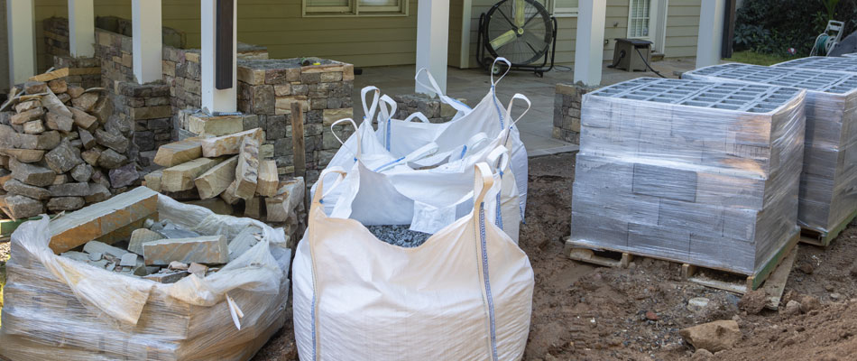 Hardscaping materials that we use to build outdoor kitchens in the Atlanta, Georgia area.